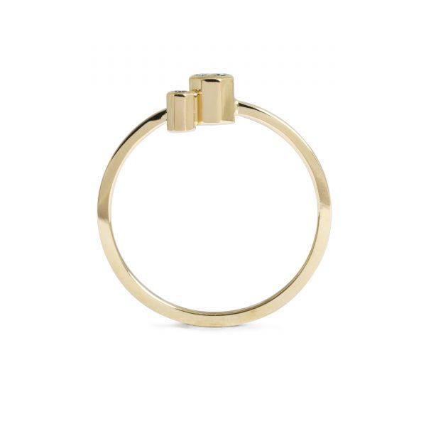 Oktagon ring, lyserød safir