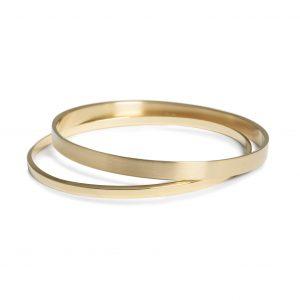 Diagonal, armbånd guld