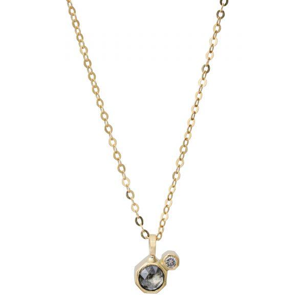 guld halskæde diamant