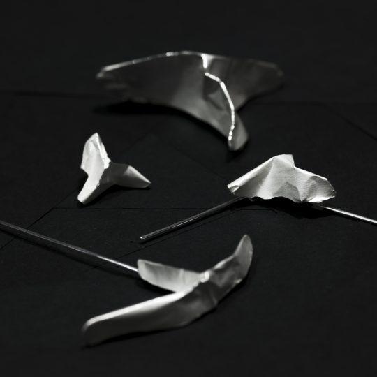 sølv brocher
