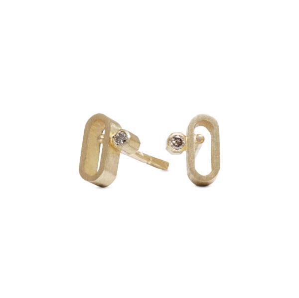 små guld øreringe diamant